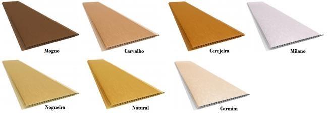Forro de pvc Colorido madeira Texturizado Plasbil