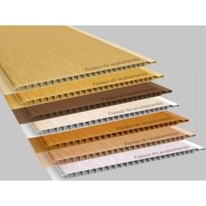 Forro de PVC LISO MADEIRADO TEXTURIZADO  10 mm  20 cm larg  (ou mt²)