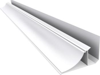 Acabamento PVC Moldura Nobre 4 cm   Barra  6  mt  branco