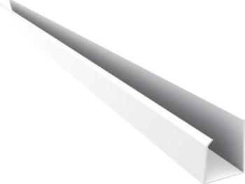 Acabamento PVC U Convencional Branco Barra 6 mt