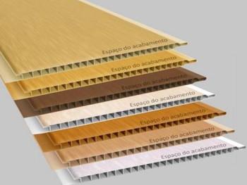 Forro de PVC Liso Madeirado Texturizado 10 mm  PLASBIL 20 cm larg ou MT QUADRADO