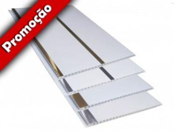 Forro de PVC Painel Decorativo LISO PLUS Plasforro 20 cm larg 8 mm m² (Barras de 3 a 6 m)