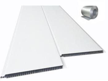 Forro de PVC LISO BRANCO BISOTADO 8 mm c/ isolante Térmico  Br 5 mt  ou M²