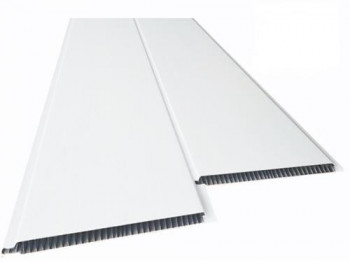 Forro de PVC LISO BRANCO BISOTADO 8 mm Barra 4 metros x 20 cm larg