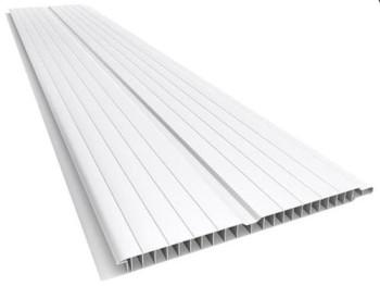Forro de PVC FRISADO GEMINI Branco  8 mm  20 cm Larg  Barra 4.5 m