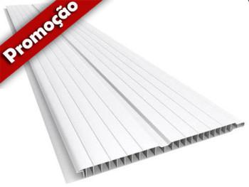 Forro de PVC BRANCO FRISADO 8 mm Barra 5 m x 20 cm larg  ou m²