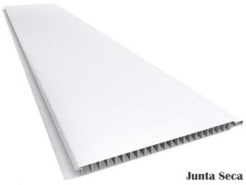 Forro de PVC LISO JUNTA SECA TWB Cinza  9 mm  20 cm larg  Barra 4 m