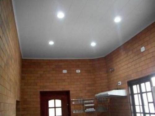 91a3d032d Forro PVC instalado / colocado liso branco melhor preço e qualidade ...
