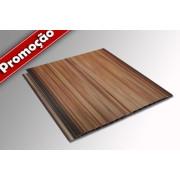 Forro de PVC gemini frisado JATOBÁ (mogno/imbuia) Plasforro 8 mm 20 cm larg BR 5 m (ou m²)
