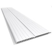 Forro de PVC BRANCO FRISADO 8 mm Barra 4 metros x 20 cm larg