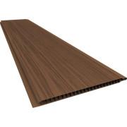 Forro de PVC LISO RELEVO RÚSTICO Plasbil Mogno  10 mm  20 cm Larg  Barra 5 m (ou m²)