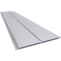 Forro de PVC LISO GEMINI Plasbil Cinza 7 mm  20 cm Larg  Barra 6 m (ou m²)