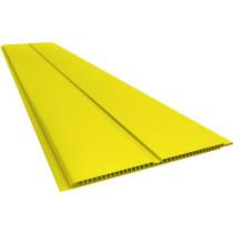 Forro de PVC LISO GEMINI Plasbil Amarelo  7 mm  20 cm Larg  Barra 6 m (ou m²)
