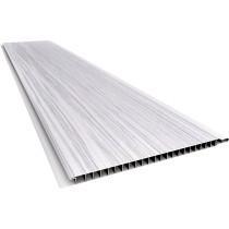 Forro de PVC LISO RELEVO RÚSTICO  Plasbil Mont Blanc  10 mm  20 cm larg  Barra 4 m