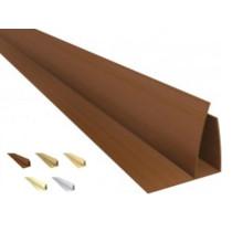 Acabamento PVC U  C/Aba  (F)  Barra 6 mt colorido, texturizado e rústico