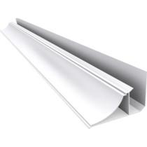 Acabamento PVC Moldura Nobre Branco 4 cm Barra 4 m