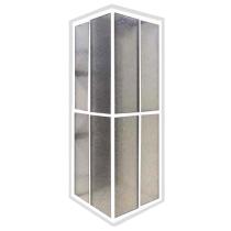 Box Acrílico de Canto ( L ) - Acab Alumínio Branco M²