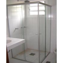 Box vidro Canto incolor Acab Alum./Branco/Preto/Bronze - M²