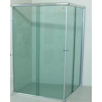Box  vidro Canto Verde Acab Alum./Branco/Preto/Bronze - M²