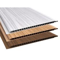 Forro de PVC RÚSTICO MADEIRADO  10 mm  20 cm larg  Barra 6 m (ou mt²)