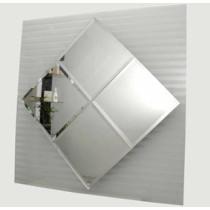 Espelho  Bisotê Cebrace 4mm Cristal Prata M²