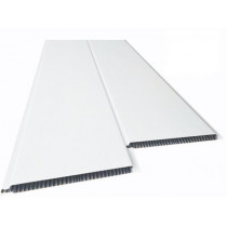 Forro de PVC LISO BRANCO BISOTADO 8 mm Barra 1 metros x 20 cm larg