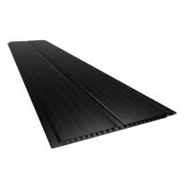 Forro de PVC FRISADO GEMINI Plasbil Preto  8 mm  20 cm larg  Barra 5 m (ou m²)