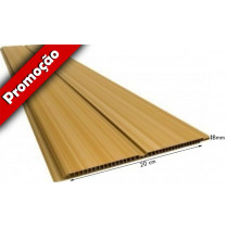 Forro de PVC FRISADO GEMINI Plasforro Cerejeira  8 mm  20 cm Larg  GEMINI Plasforro m² (Barras de 2 a 6m)