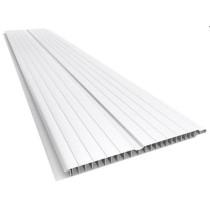 Forro de PVC FRISADO GEMINI Branco  8 mm  20 cm Larg  Barra 2 m