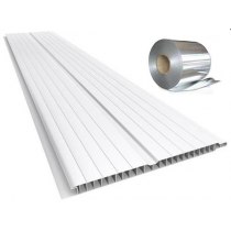 Forro de PVC FRISADO BRANCO 8 mm c/ Isolante Térmico Barra 1 metro x 20 cm larg