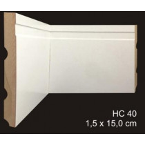 rodapé mdf cavimad Hi Collection - cod. 40 - Metro