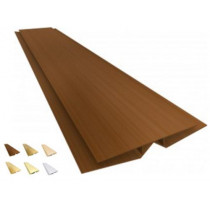 Acabamento PVC Emenda Flexível Colorido, Texturizado e Rústico Barra 3 m