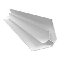Acabamento PVC Canto Interno Branco Barra 6 m
