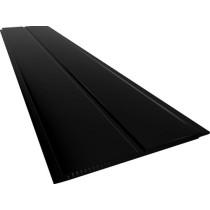Forro de PVC LISO TWB Preto ou Amarelo  9 mm  20 cm larg  Barra 4 m