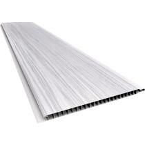 Forro de PVC LISO RELEVO RÚSTICO Plasbil Mont Blanc  10 mm  20 cm Larg  Barra 5 m