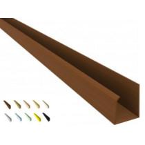 Acabamento PVC U Convencional  Barra 3 mt colorido, texturizado e rústico.