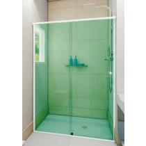 Box vidro frontal Verde Acabamento Alumínio, Branco, Preto, Bronze ou Champanhe m²