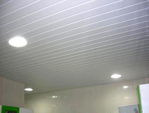 Forro pvc instalado colocado com isolante melhor pre o e for Tipos de cielorrasos para casas