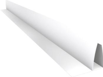 Acabamento PVC U C/Aba (F) Branco Barra 6 m