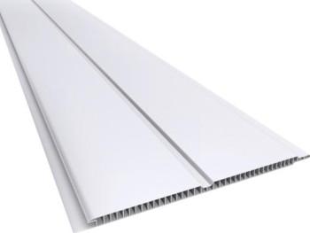 Forro de PVC LISO GEMINI Branco  7 mm  20 cm Larg  Barra 6 m  (ou m²)