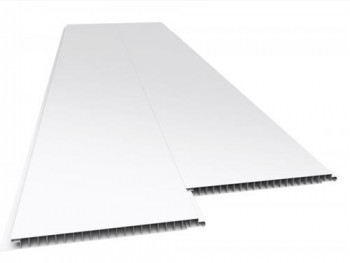 Forro de PVC LISO JUNTA SECA  Branco 7 mm 25 cm Larg Barra 4 m (ou m²)