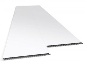 Forro de PVC LISO JUNTA SECA Plasbil Branco 10 mm  20 cm Larg  Barra 5 m (ou m²)
