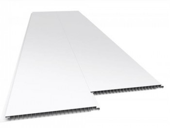 Forro de PVC LISO JUNTA SECA Branco 9 mm 20 cm Larg Barra 1 m