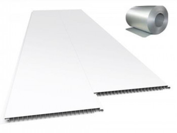 Forro de PVC LISO JUNTA SECA Branco c/ isolante Térmico 7 mm 20 cm Larg Barra 3,5 m