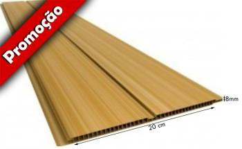 Forro de PVC FRISADO GEMINI Plasforro Cerejeira 20 cm Larg 8 mm GEMINI Plasforro m² (Barras de 2 a 6m)