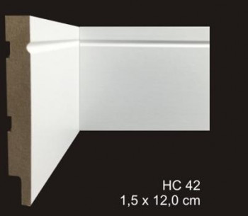 rodapé mdf cavimad Hi Collection  - cod. 42 - Metro