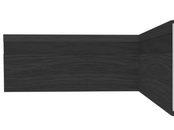 Rodapé PRETO PVC PLASBIL 10 cm -  METRO