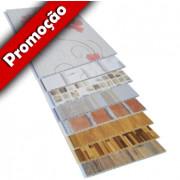 Forro de PVC Painel Decorativo LISO TOP LUXO Plasforro 25 cm larg 7 mm m² (Barras de 1 a 6m)