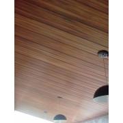 Forro de PVC amadeirado Jatoba ou Imbuia instalado / colocado