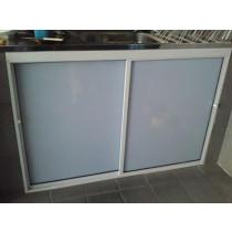 Abrigo / Fechamento Acrílico Frontal Acab Alumínio M²